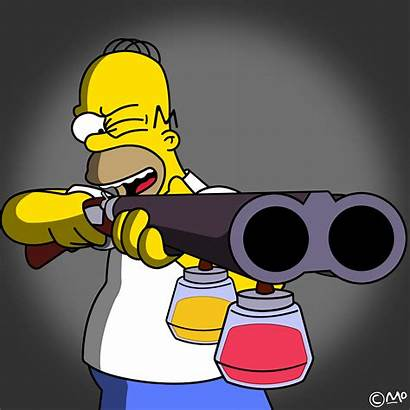 Homer Simpsons Simpson Wallpapers Gun Shotguns Military