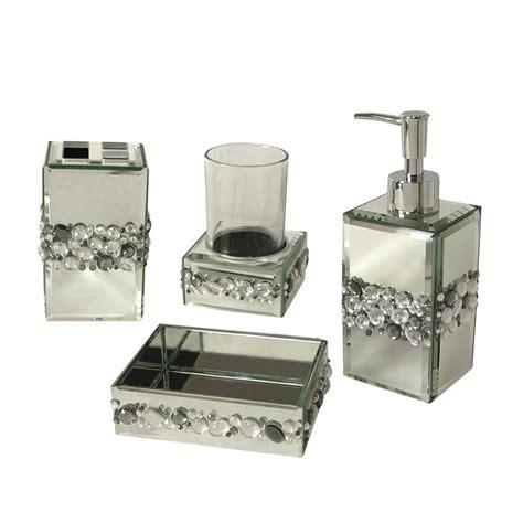 rhinestone bathroom accessories sets shop home fashions bling 4 bathroom