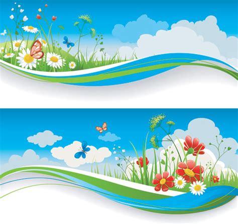 summer landscape vector ai svg eps vector