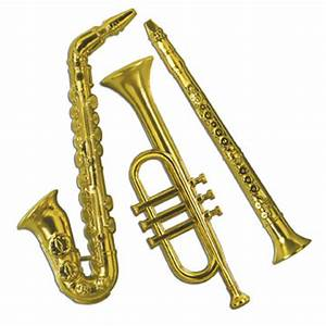 50s rock n roll party decorations - gold music instrument