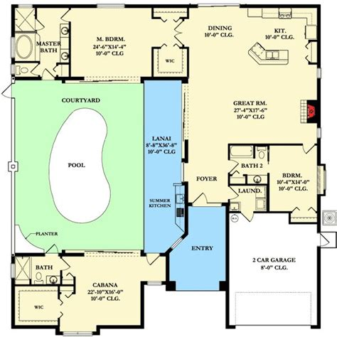 Courtyard Floor Plans by Best 20 Courtyard House Plans Ideas On