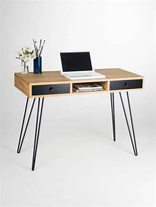 Petite Table Bureau : accueil bureau industriel petite table bureau avec tiroirs ~ Teatrodelosmanantiales.com Idées de Décoration