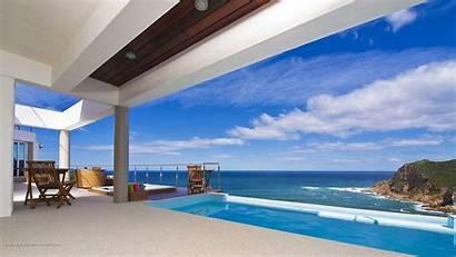 Desktop Houses Sea Overlooking Cool Pools Views