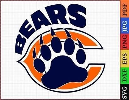 Chicago Bears Svg Layered Cricut Football Nfl