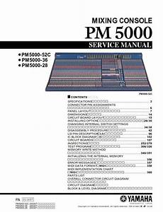 Yamaha Pm5000 Mixing Console Service Manual And Repair