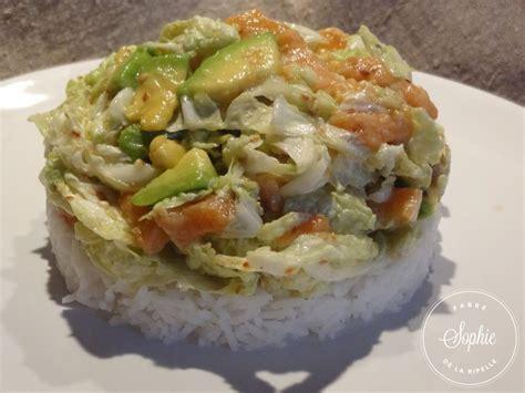 un chinois en cuisine salade au chou chinois et saumon la tendresse en cuisine