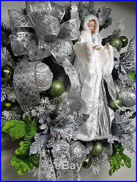 winter angel wreath christmas holiday wreath wall door decoration silver wreath christmas