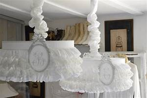Abat Jour Chambre : rideau lin volant dentelle blanche le grenier d 39 alice ~ Teatrodelosmanantiales.com Idées de Décoration