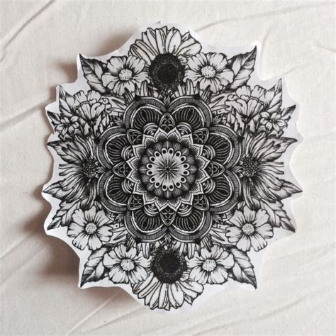 mandala flower tattoos ideas  pinterest