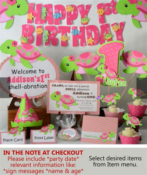 1st birthday ideas for baby girl party themes inspiration pink girl turtle birthday party or baby shower