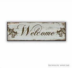Wooden welcome sign boutique signs Handmade sign Welcome