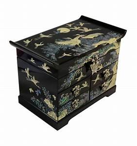 Boite Bijoux Noire Design En Nacre Naturelle