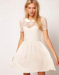 asos asos lace shirt dress with peterpan collar at asos With robe avec col claudine