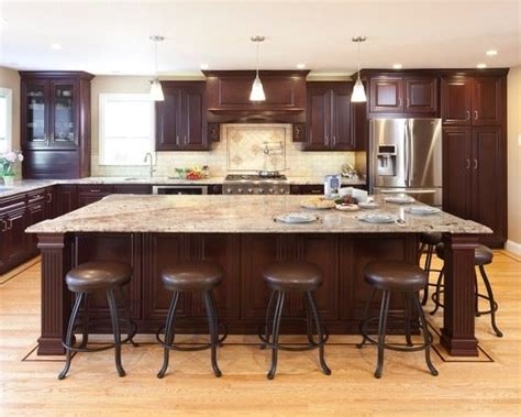 kitchens with large islands best 25 large kitchen design ideas on