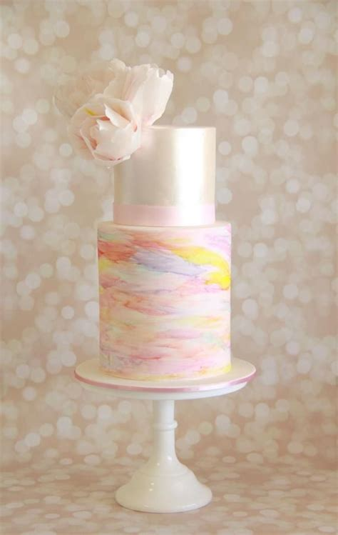 water color cake wedding cake wednesday watercolor cakes