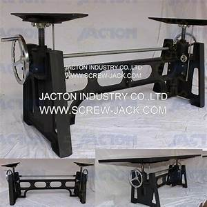 Hand Crank Height Adjustable Table Manual Screw Jack Crank