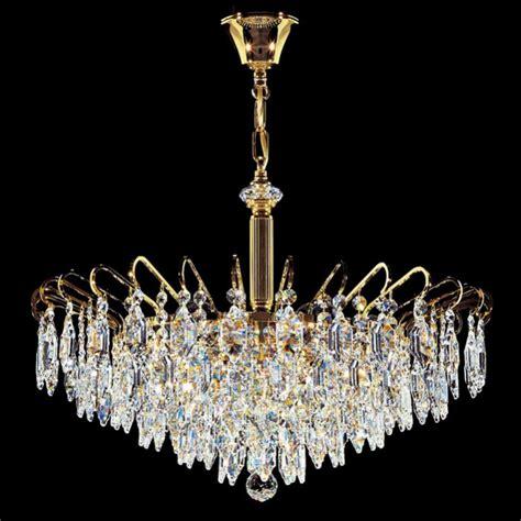 lustre cristal et plaque or deco 60 cm kolarz 233 clairage haut de gamme