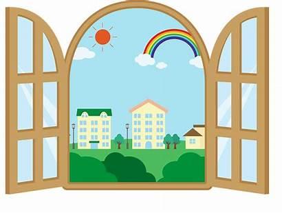 Window Clipart Outside Cityscape Transparent Creazilla Town