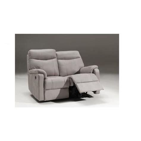 canapé 2 places relax électrique côme gris canapé cuir relax électrique 2 places achat