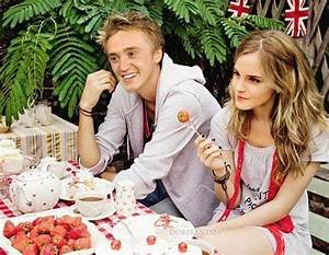 emma watson, tom felton, harry potter, couple - image ...