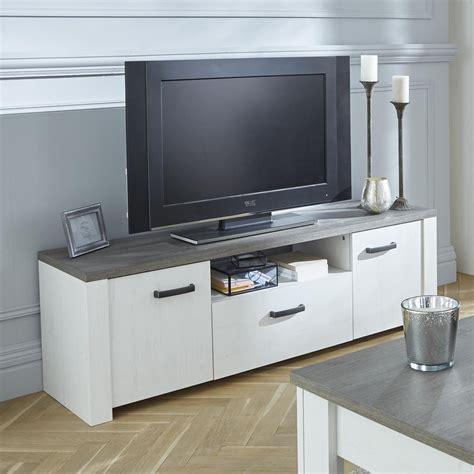 meuble cuisine 15 cm meuble tv 2 portes ouvrantes et 1 tiroir marquis dya shopping fr