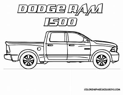 Coloring Trucks Pages Ford