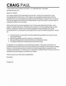 sample cover letter for computer technician job - support technician cover letter