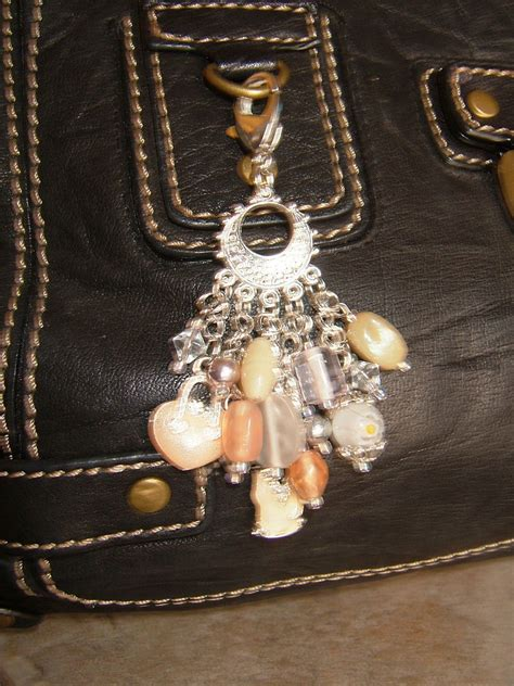 champagne lady purse dangle  charm keyring jewelry