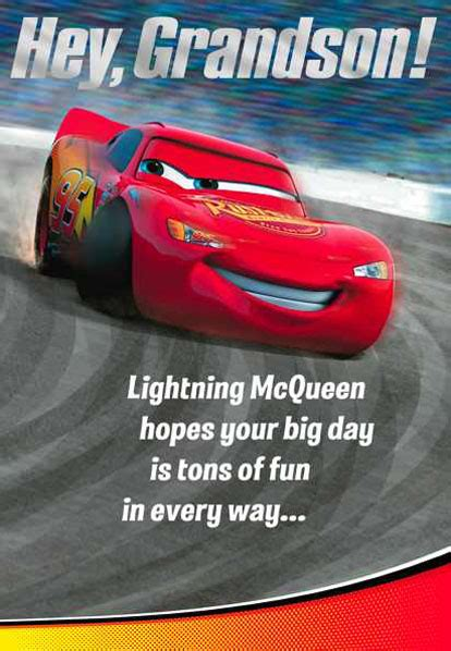 Cars Lightning Mcqueen And Mater Grandson  Ee  Birthday Ee   Card