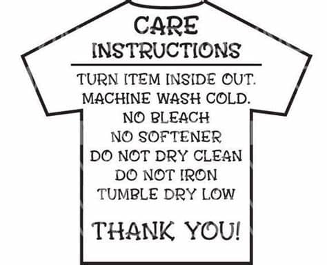 Svg + html + css + jquery. Care Instructions Digital File | T shirt Care Instructions ...