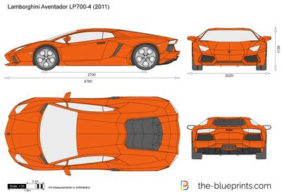 lamborghini aventador lp  vector drawing
