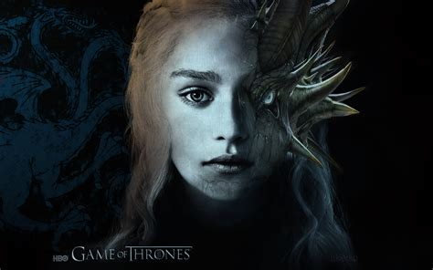daenerys  dragon game  thrones wallpaper