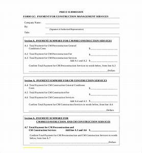 Sample Payment Plan Contract 9 Sample Construction Management Forms Sample Forms