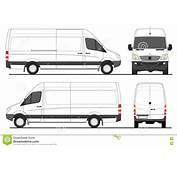 Mercedes Sprinter Van LWB Stock Vector Illustration Of