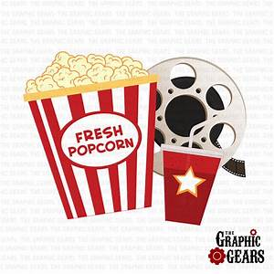 Movie And Popcorn Clipart - Clipart Suggest