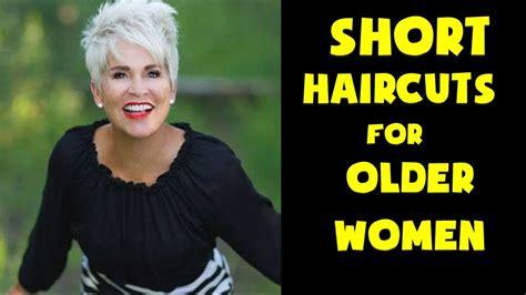 short haircuts  older women  viyoutube