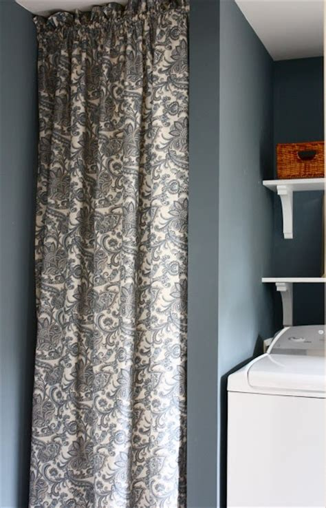 laundry room curtain to hide water heater home