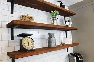 Reclaimed, Barn, Wood, Wall, Shelves-, 2x8