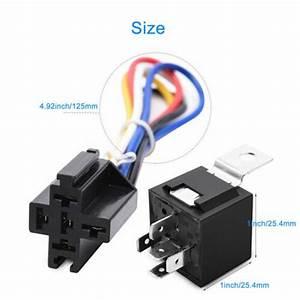 5x Automotive Relay Harness Socket Set 12v 30  40 Amp 5