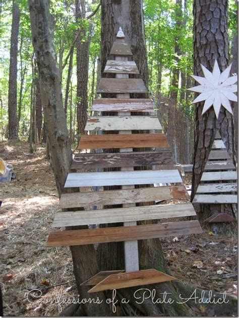ideas  wooden christmas tree  backyard ecstasycoffee