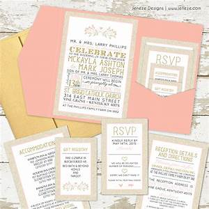 What to put in your pocket wedding invitations jeneze for Wedding invitations what information to include