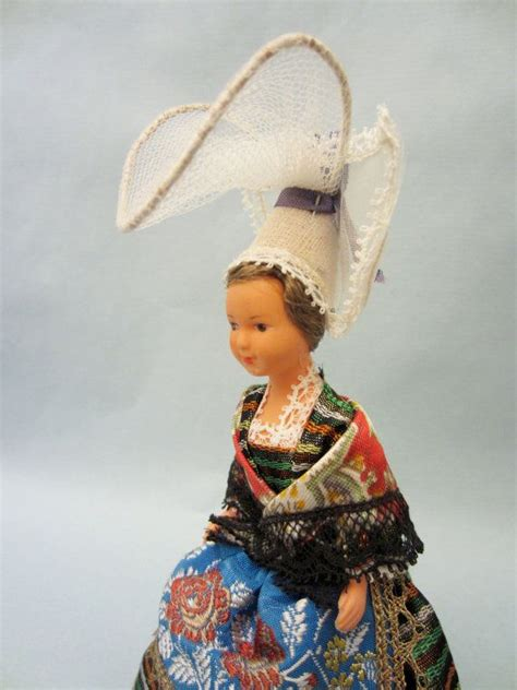 vintage french normandy costume doll representing