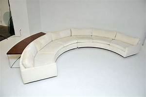Milo baughman semi circle sofa w console table at 1stdibs for Sectional sofas circle furniture