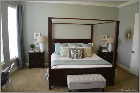 paint colors  bedrooms  dark wood furniture