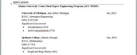 how do you show getting dual degrees from two affilliated