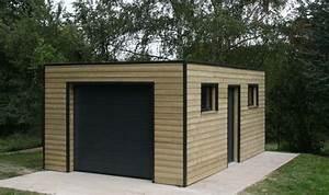 construire un garage bienchezmoi With construire garage bois toit plat