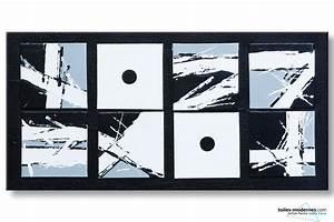Tableau Moderne Noir Et Blanc : la s miotique tableau moderne noir et blanc ~ Teatrodelosmanantiales.com Idées de Décoration