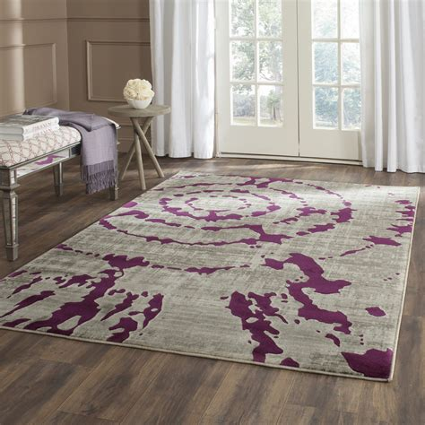 purple area rugs varnai light gray purple area rug reviews allmodern