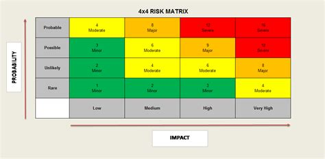 risk matrix project risk manager page