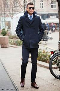 Navy Double Breasted Jacket and Denim | Menu0026#39;s Fashion Chic | Pinterest | Navy dress pants and ...
